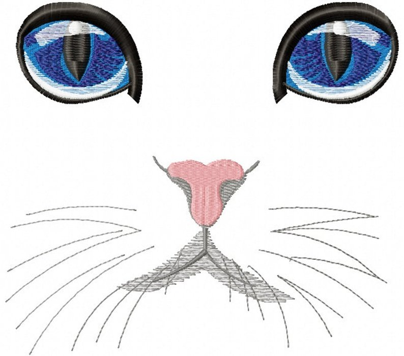 794x700 Cat Eyes Machine Embroidery Designs Instantly Download Etsy