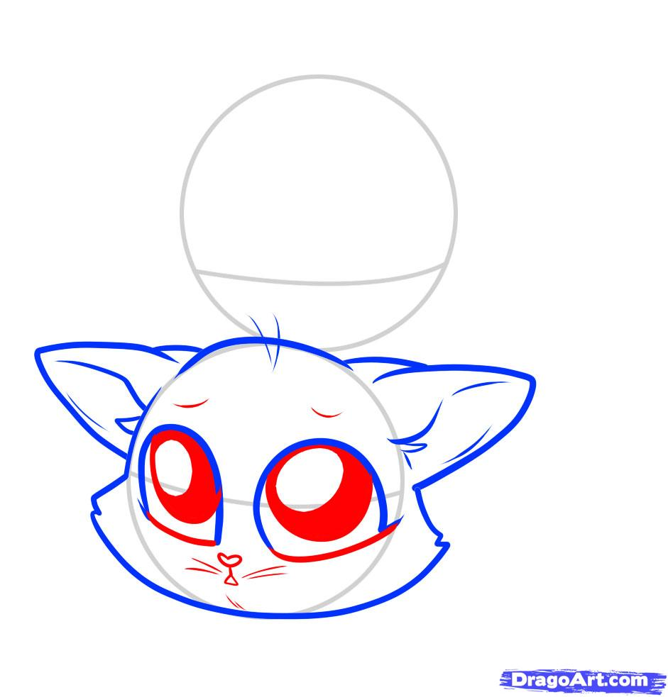 941x983 How To Draw Chibi Cats, Step