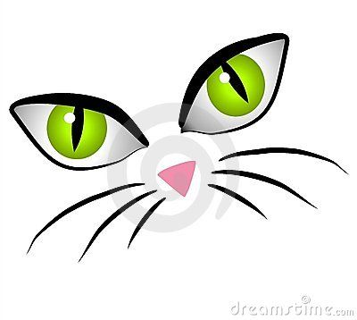 400x358 Cartoon Cat Face Eyes Clip Art Royalty Free Stock Images