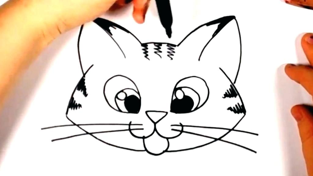 1024x576 draw a cat face how to draw cat faces heads view draw cat face