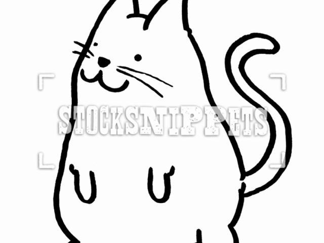640x480 Cute Cat Face Drawing
