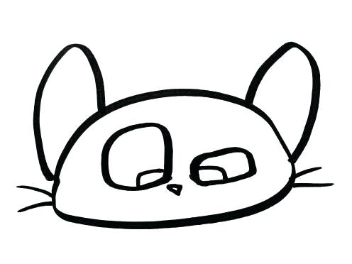 496x372 Draw A Simple Cat How Simple Way To Draw Cat Face