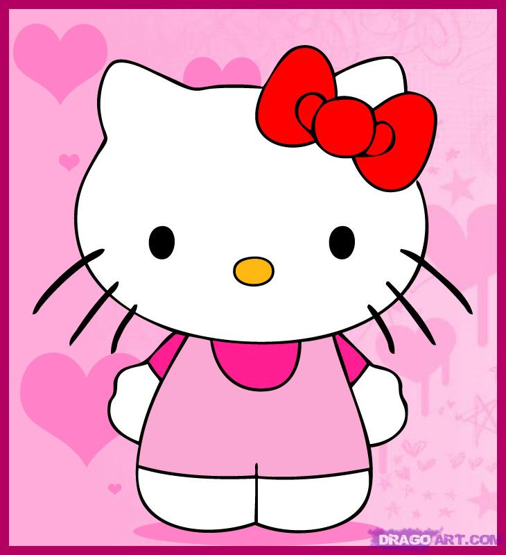 730x800 How To Draw Hello Kitty, Step
