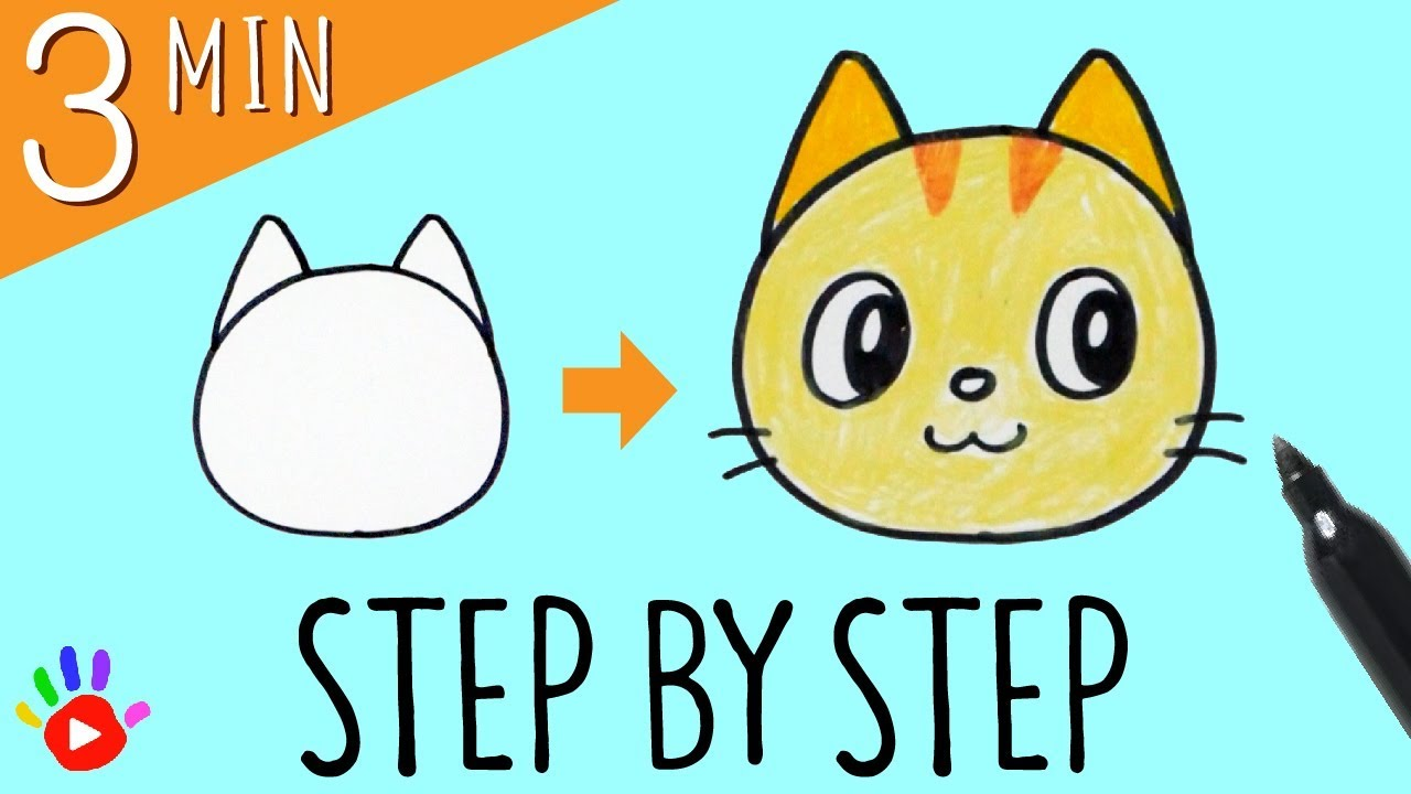 1280x720 How To Draw A Cat's Face Slow Easy Drawing Tutorial For Kids