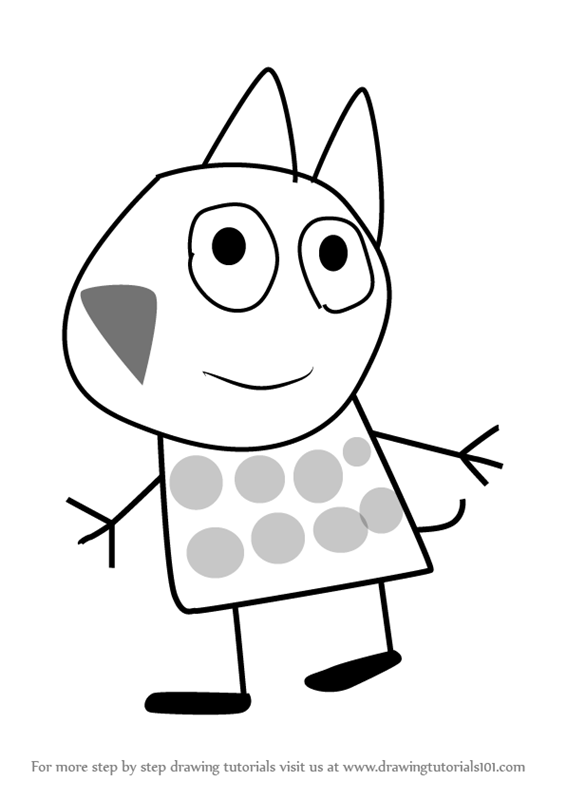 566x800 Learn How To Draw Gertrude Cat From Peppa Pig