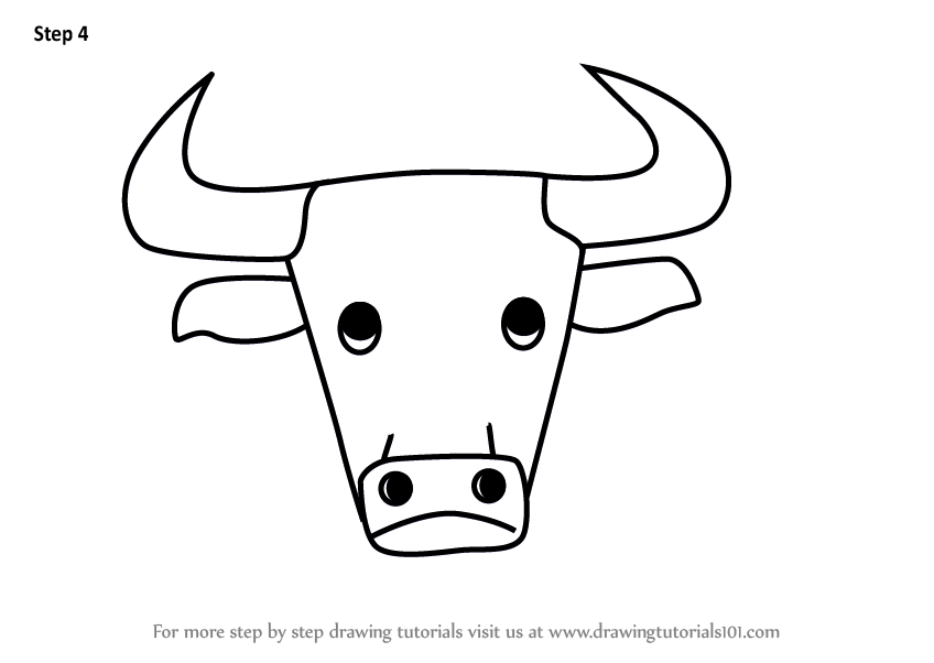 848x602 Learn How To Draw A Bull Face For Kids