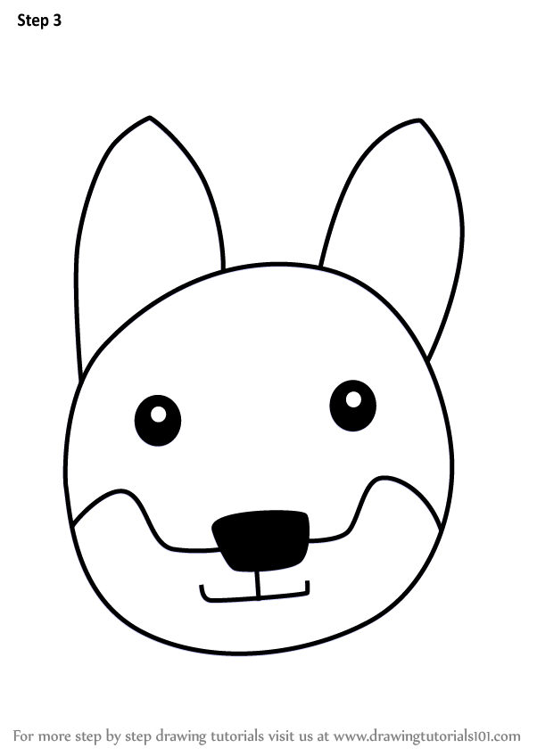 602x848 Learn How To Draw A Dingo Dog Face For Kids