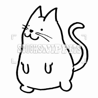 336x336 Cat Face Drawing Black And White A Simple Images Cute I Fertility