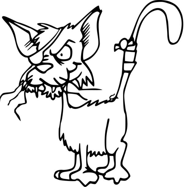 600x610 Free Clip Art Cat Linedrawing