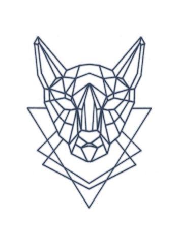 350x450 Geometric Cat Head Tattooednow! Ltd