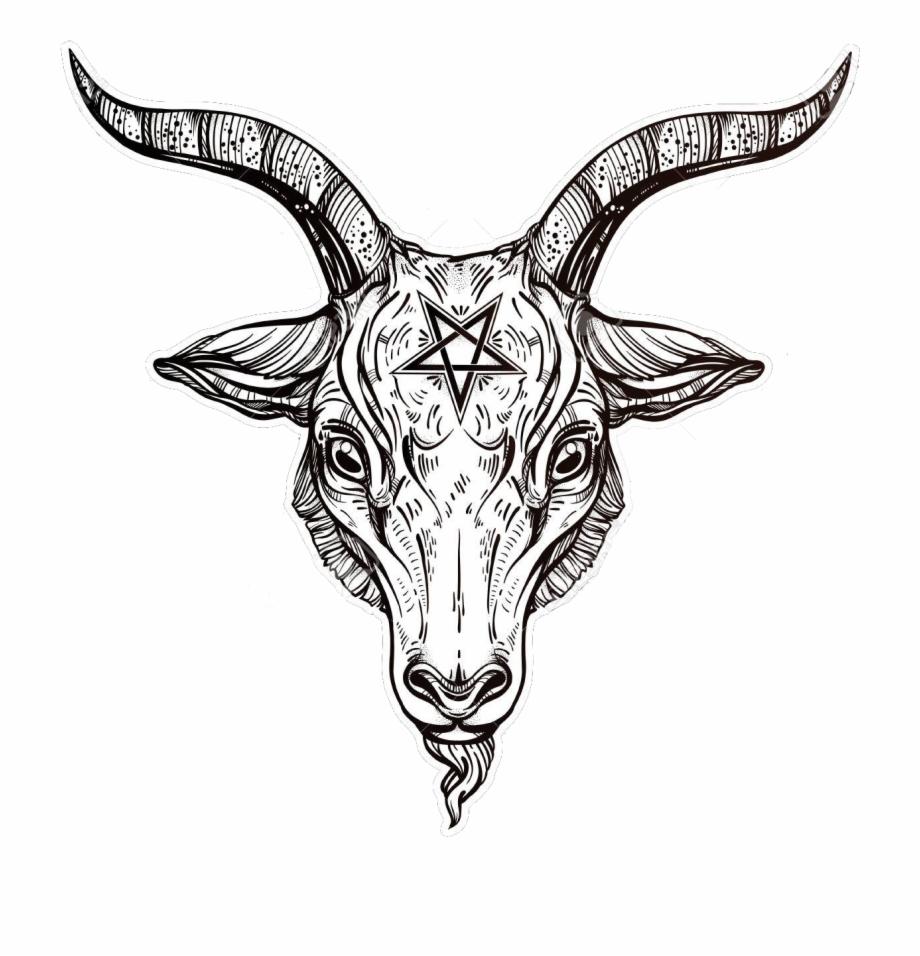 920x956 Pentagram With Demon Baphomet Satanic Goat