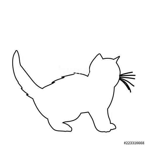 500x499 Outline Of Cat Cat Outline Black And White Outline Caterpillar