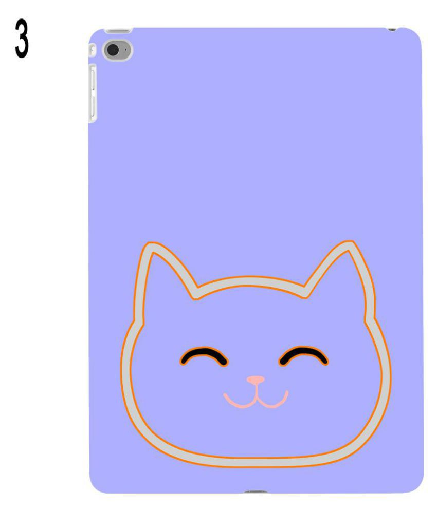850x995 Cartoon Cat Head Simple Drawing Protect Case Cover For Apple Ipad