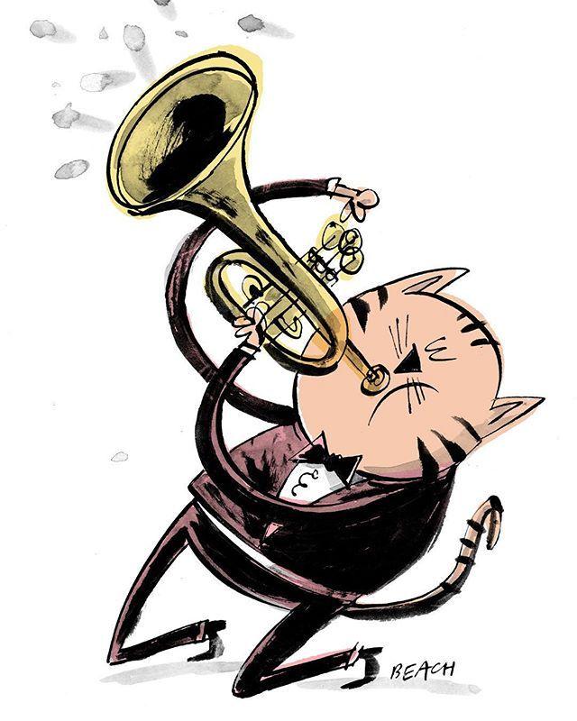 640x800 Jazzcat Jimmy 'trumps' Mcgill Ink Drawing On Paper