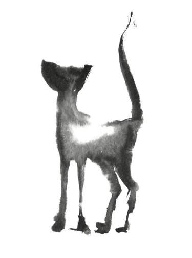 375x505 Black Cat Drawing