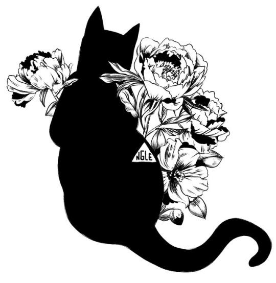 540x554 Ink Cat Drawing Tumblr