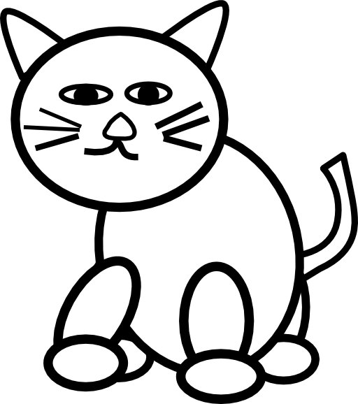 512x578 Cat Clipart Line For Free Download And Use In Presentations