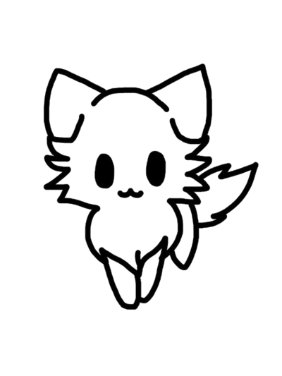 400x533 Kitty Cat Line Drawing Transparent Png Clipart Free Download