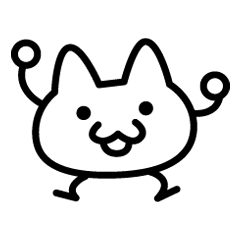 240x240 simple line drawing cat line stickers line store