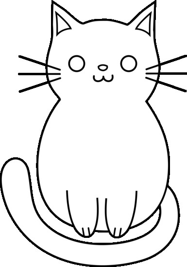 385x550 Within Cat Line Drawing Clip Art