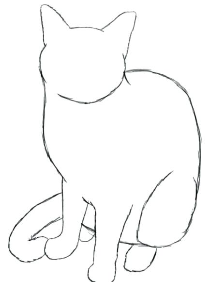 432x581 Cat Drawing Simple