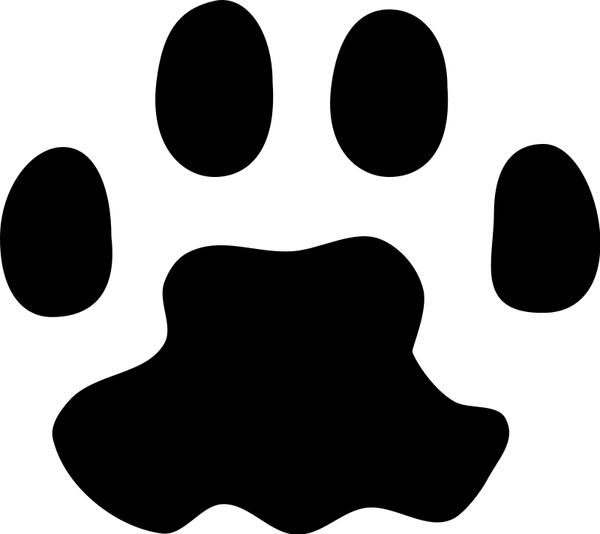 600x534 Cat Paw Print Free Vector In Open Office Drawing