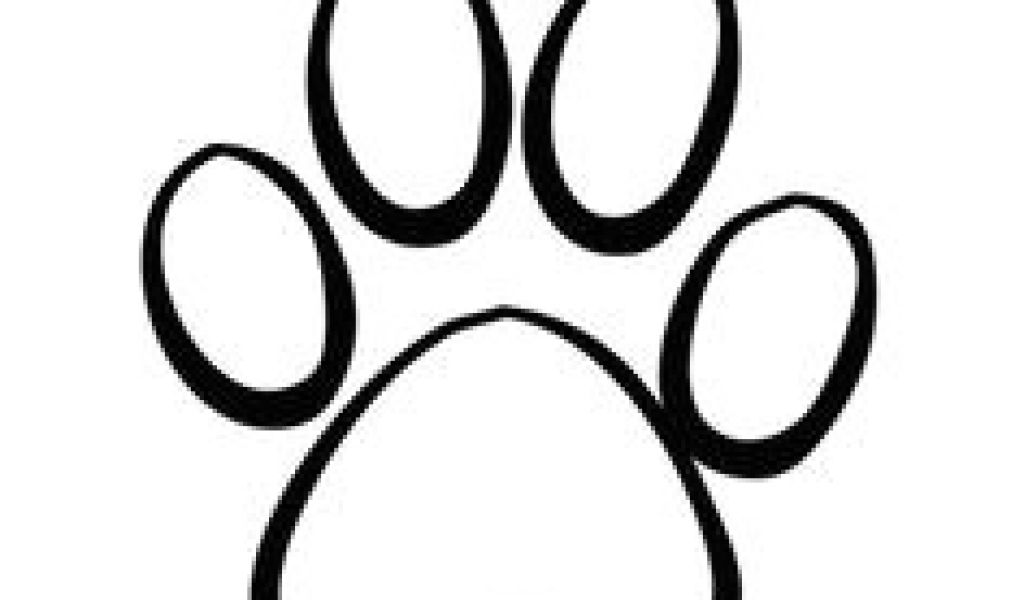 1024x600 Drawing Of A Dog Paw Print Paw Print Games Drawings Dog Paws
