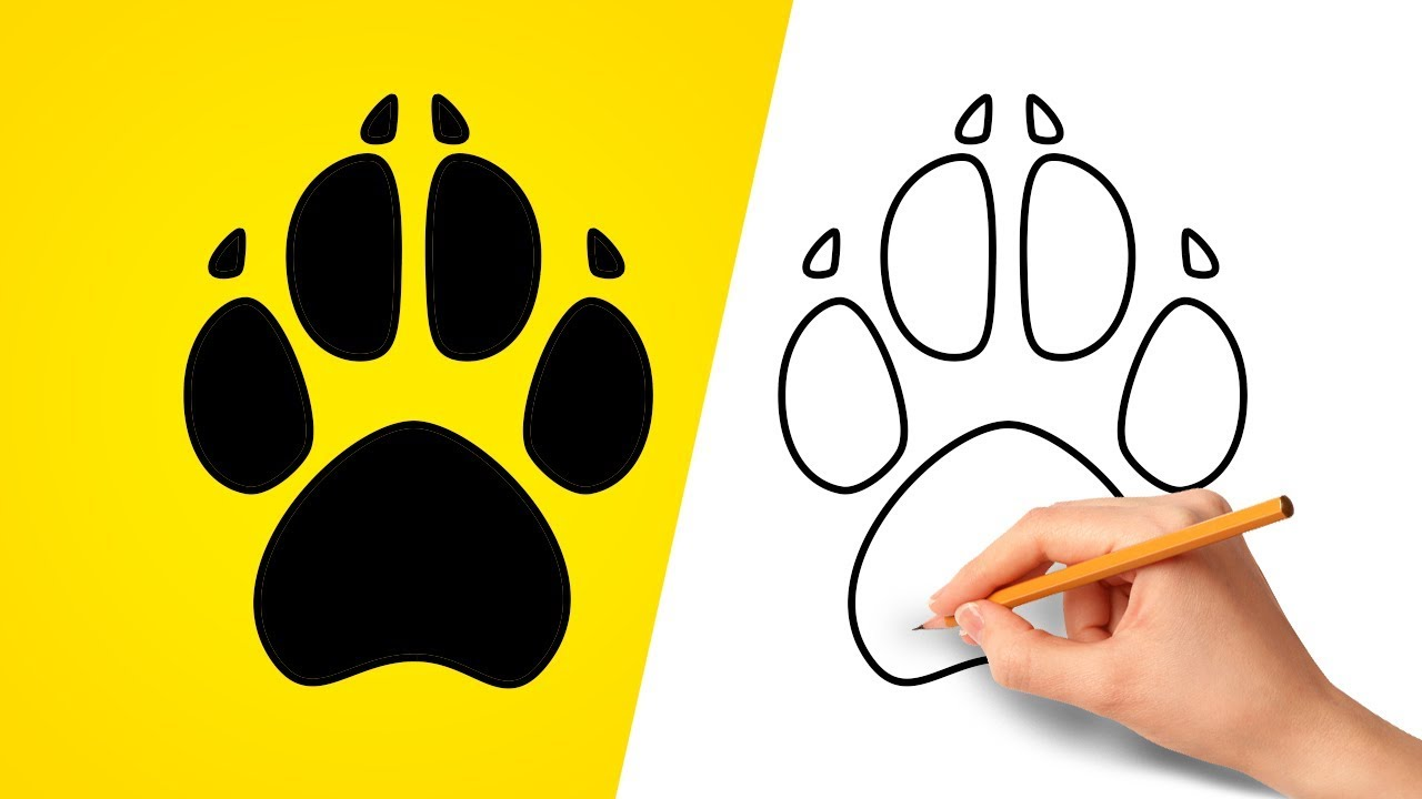 1280x720 How To Draw A Dog Paw Print
