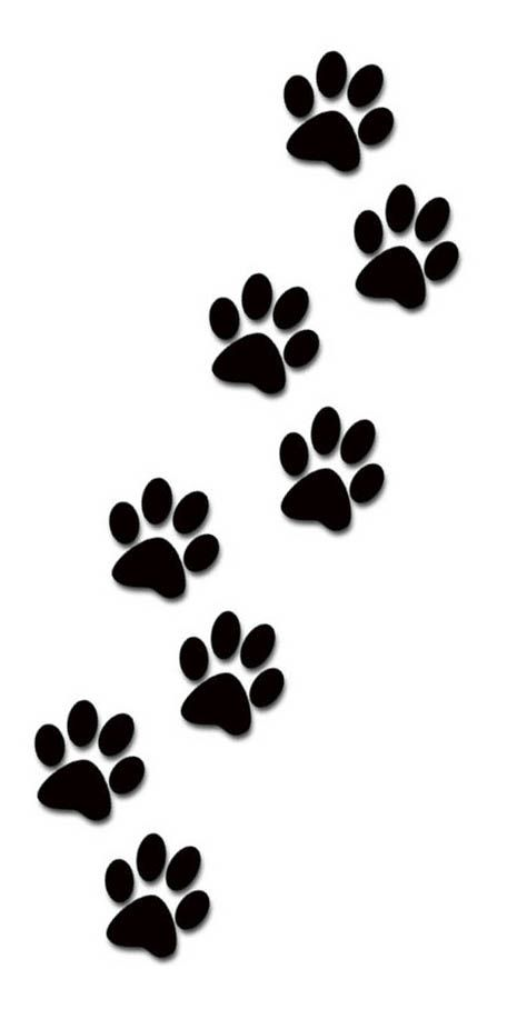 474x908 Paw Print Tattoos On Dog Paw Prints Scroll Clipart Tattoo