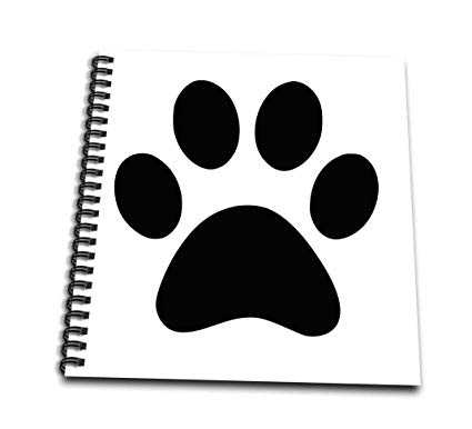 425x386 Db Black Paw Print On White Animal Cute Cartoon