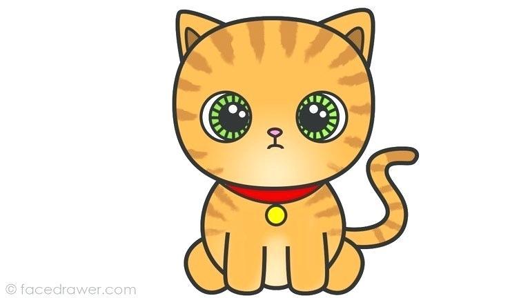 768x432 cat to draw cat cat sketches cartoon