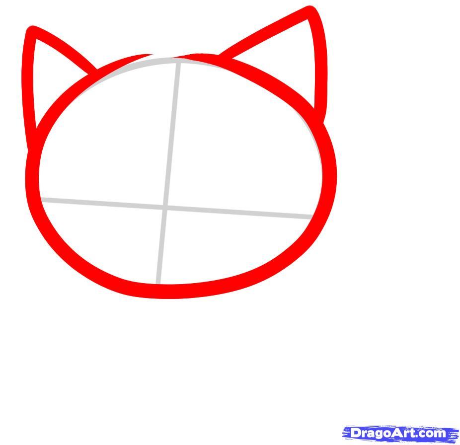 926x896 draw a shadow cat, shadow kitty, step