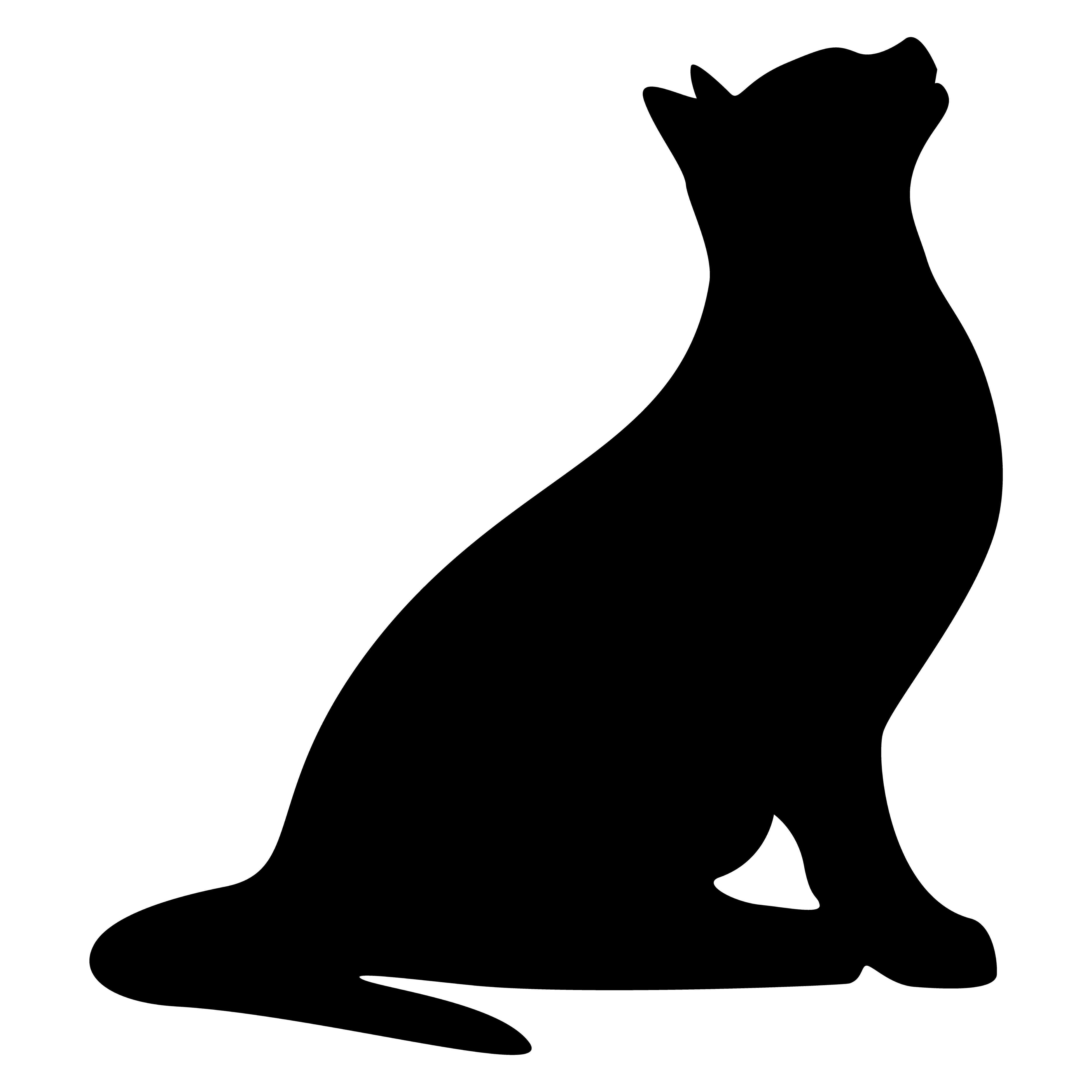 5000x5000 Cat Silhouette Vector Illustration