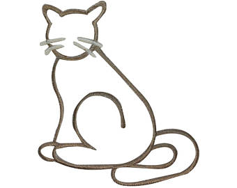 340x270 Cat Outline Drawing Etsy