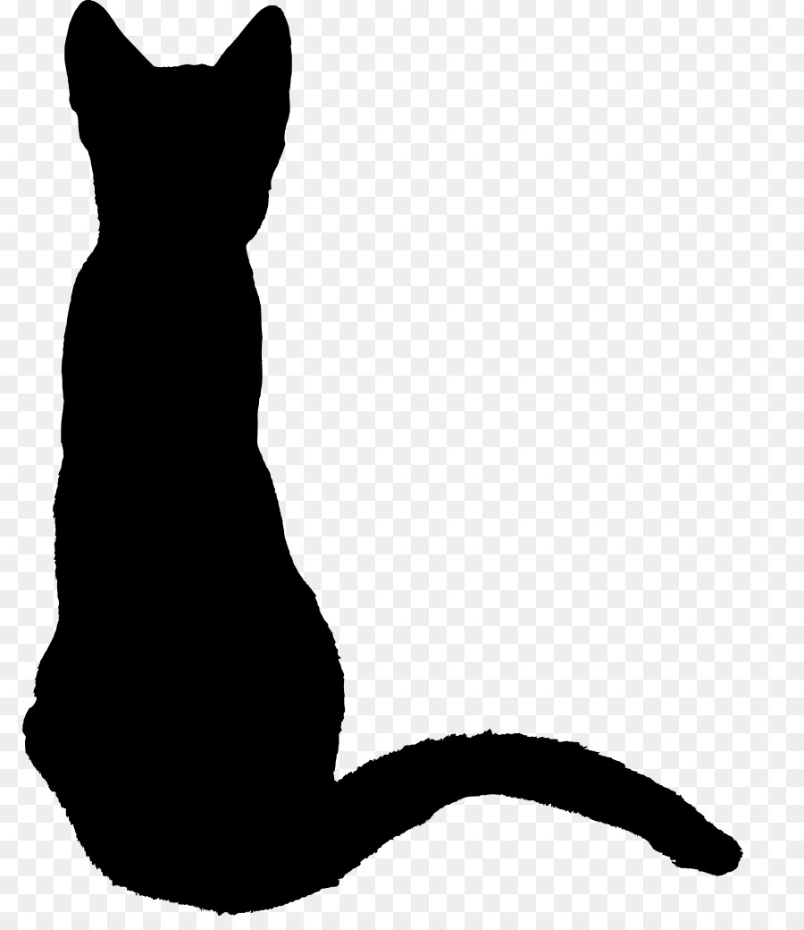 900x1040 Kitten, Silhouette, Drawing, Transparent Png Image Clipart Free