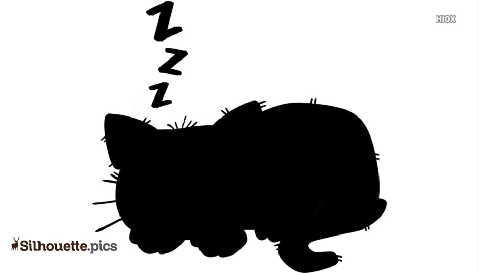 934x534 Sleeping Cat Silhouette Vector, Clipart Images, Pictures
