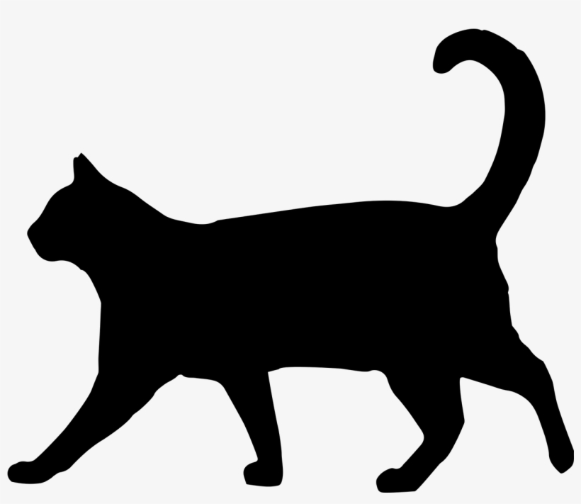 820x711 Vector Freeuse Stock Drawing Silhouette Cat