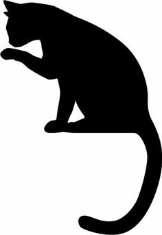 236x343 Best Silhouettes Of Cats Images In Silhouettes, Applique