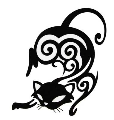 382x400 Cat Tattoos And Designs
