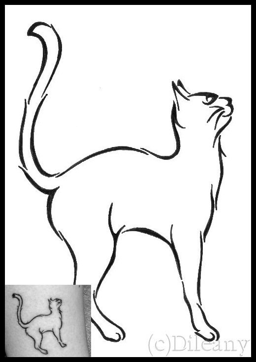 520x736 Persian Cats Outlines Tattoos Ideas And Designs
