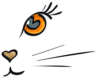 425x318 Art Painting Drawing Abstract Cat Kitten Face Whiskers