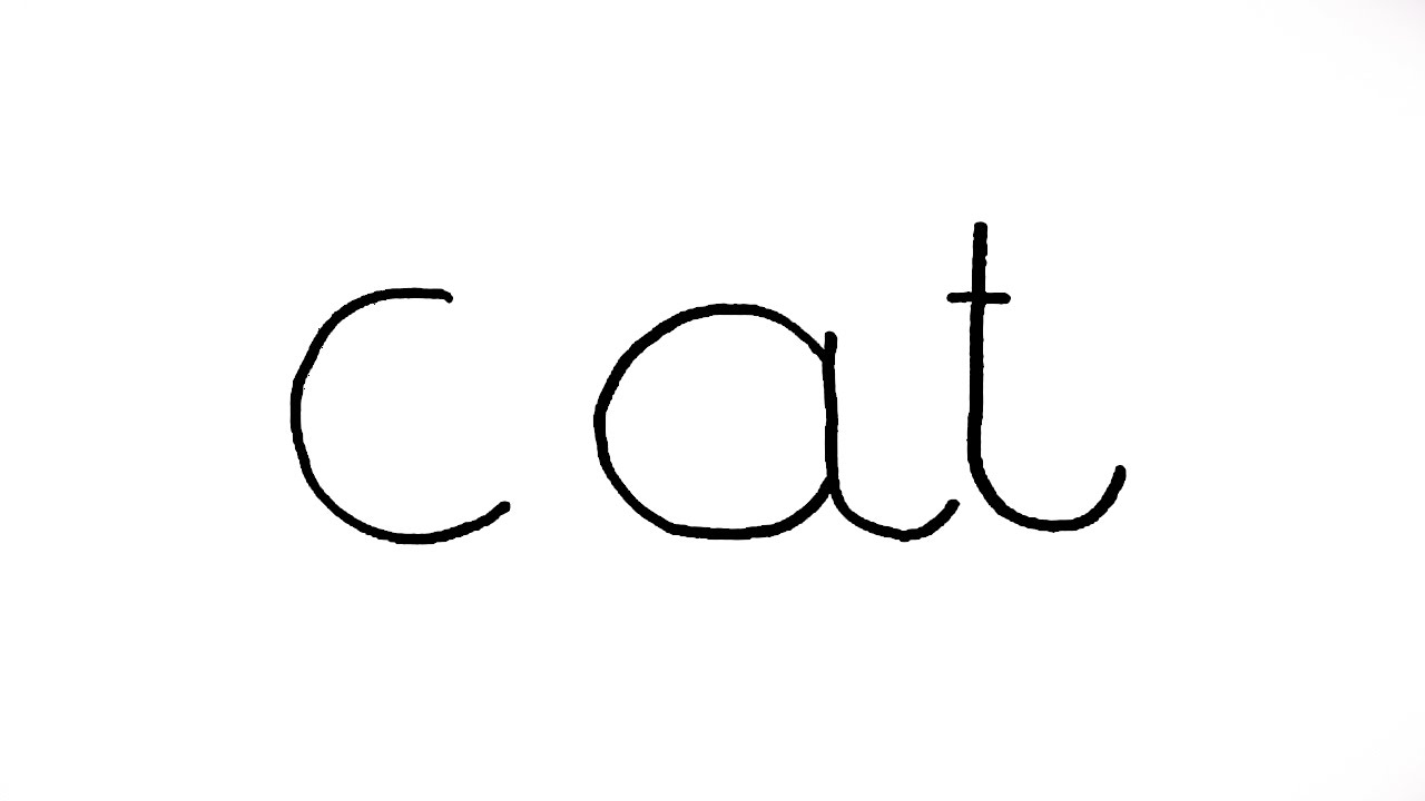 1280x720 How To Turn Words Cat Into A Cartoon Cat