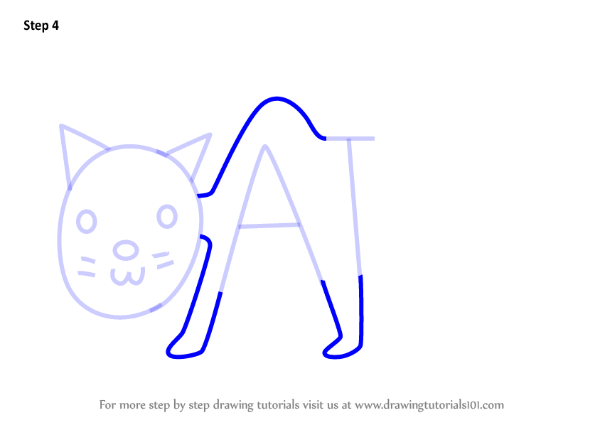 844x598 Learn How To Draw A Cat From Word Cat