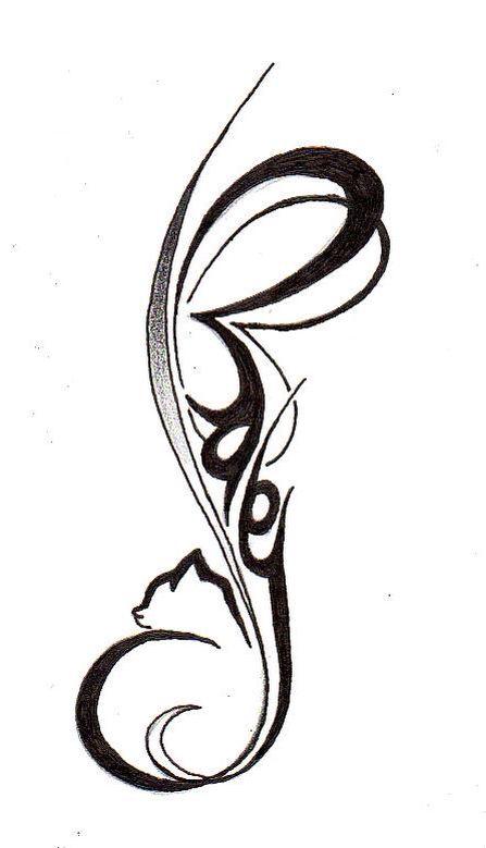 447x779 Cat Tattoos Katze, Katzen Tattoo, Tattoo