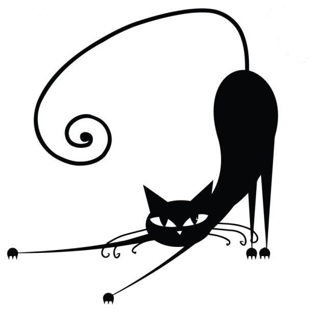 630x622 black cat cats quilling black cat drawing, cat silhouette, cat art
