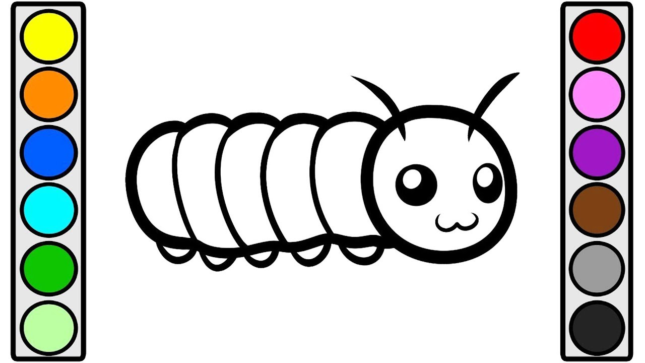 1280x720 caterpillar drawing for kids and caterpillar drawing for kids