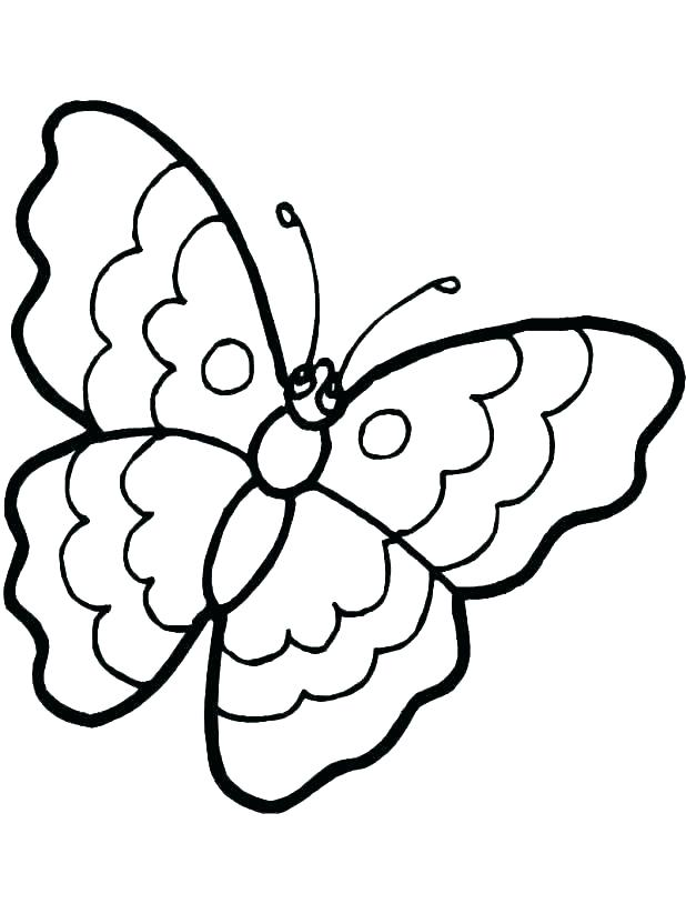 618x823 Butterfly Coloring