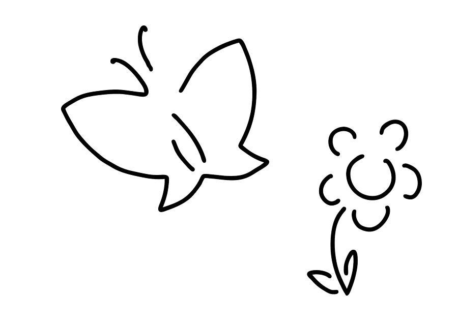 900x635 Butterfly Flower Butterfly Caterpillar Drawing