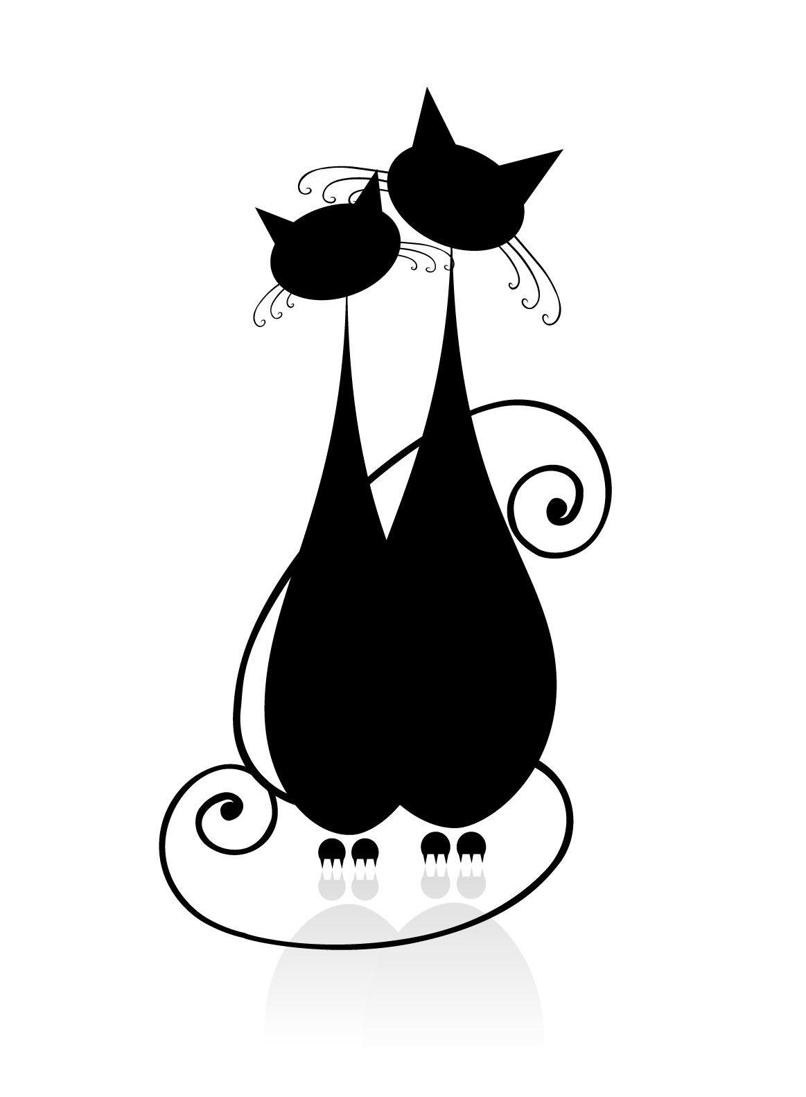 1163x1583 stickers met katten cats in love cats cats, cat silhouette