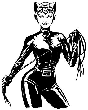 Catwoman Cartoon Drawing